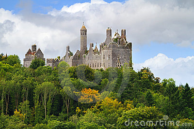 Dromore Castle on the hill