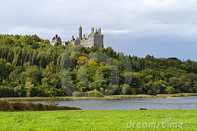 Dromore Castle and lake