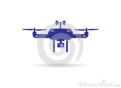 Drone Icon Vector Isolated On White Background Aerial With A Camera Taking Photography Or Video Reco Royalty Free Stock Image