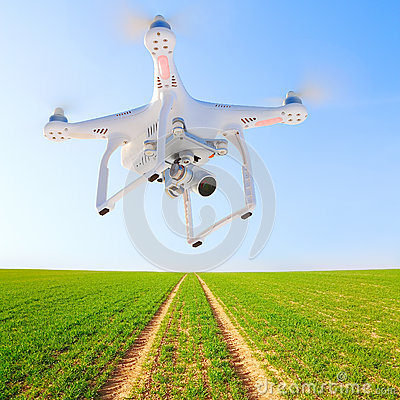 Free Drone Over Green Wheat. Stock Image - 90119111