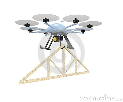 Drone roof truss