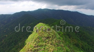 Drone view of mountain in Thailand stock footage