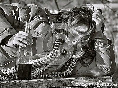 Dronken vrouw 1