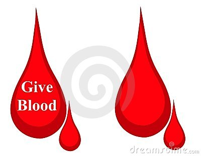 Drop of Blood Donation Logo