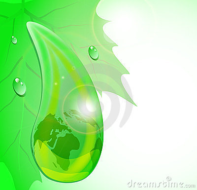 Drop of dew with mother Earth
