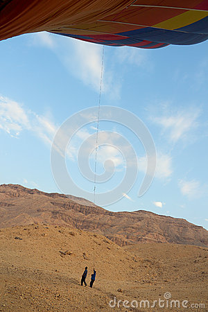 Free Drop Process Of Balloon In Luxor Stock Image - 48244011