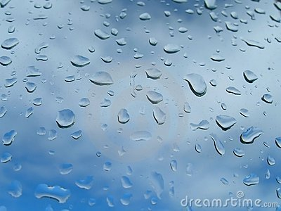 Drop of rain on glass