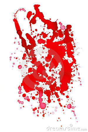 Drop red ink