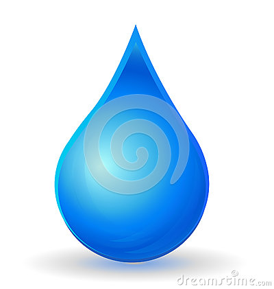 Drop of water with vivid color