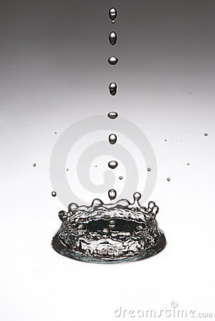 The drop, which falls into the water