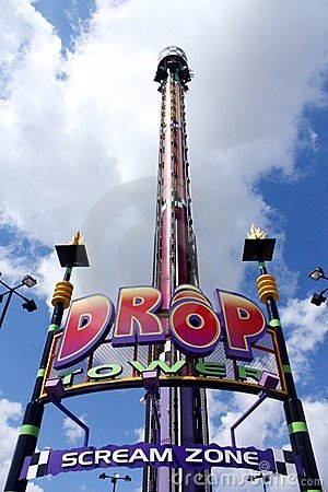 Drop zone tower Editorial Photo
