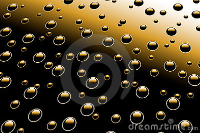 Droplets on metal surface