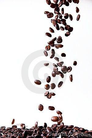 Dropping coffee beans