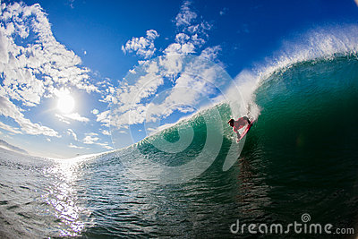 Dropping Wave Body Boarder Editorial Image