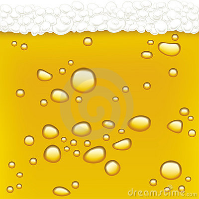 Drops in beer (vector)