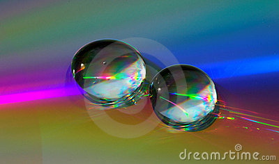 Drops on CD-disk