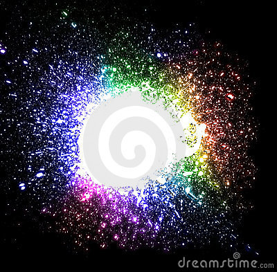Drops Explosion Background with rainbow Colours