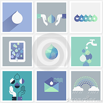 Free Drops Of Water. Set Of Design Elements Stock Images - 31143584