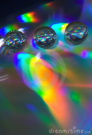 Free Drops On The CD-disk Royalty Free Stock Images - 1032029