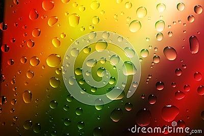 Drops water