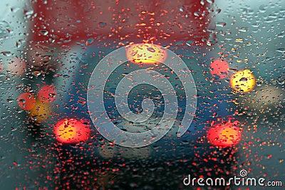 Drops on windscreen