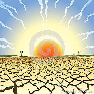 Drought illustration