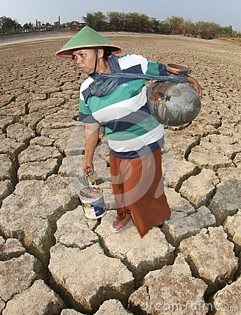 Drought in indonesia Editorial Image
