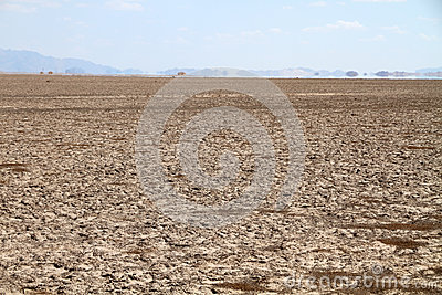 Drought land and mirage