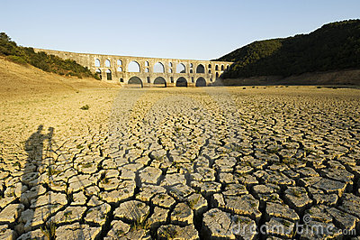 Drought and Maglova Aqueduct, Istanbul-Turkey