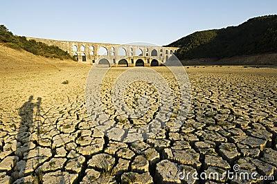 Drought and Maglova Aqueduct, Istanbul-Turkey