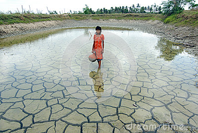 Drought & Rainwater Editorial Stock Photo