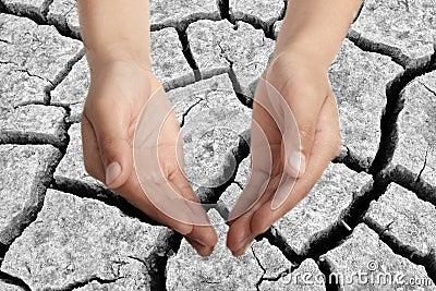 Drought stricken land