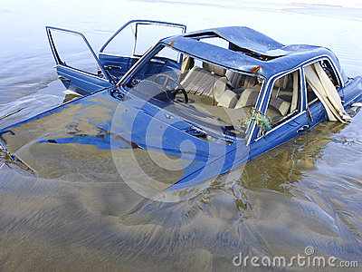 Drowned car
