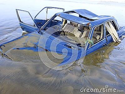 Drowned car
