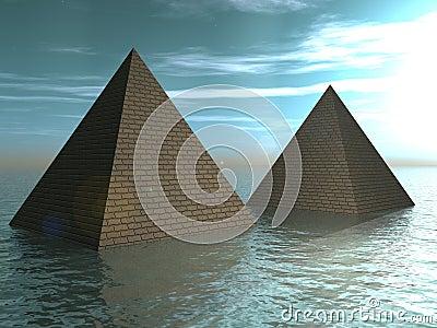Drowned pyramids