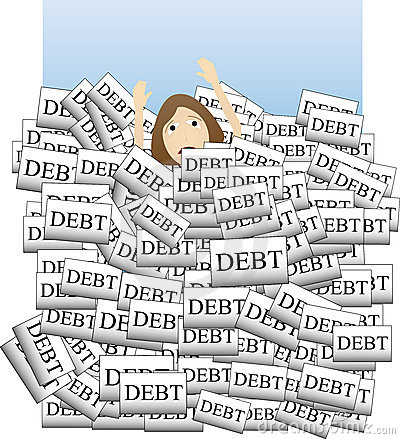 Free Drowning In Debt Royalty Free Stock Photo - 8692015