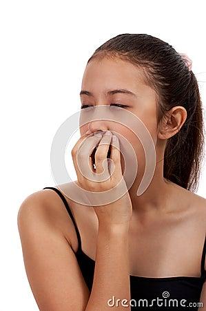 Free Drowsy Female Yawning Stock Photo - 4216710