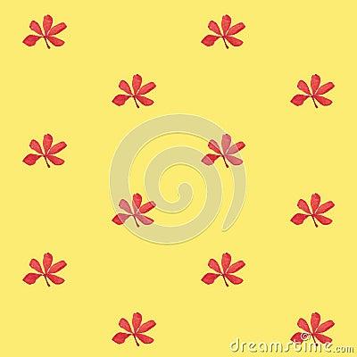 druck nahtloses muster rote blumen mit gelbem hintergrund stock abbildung bild 63888886. Black Bedroom Furniture Sets. Home Design Ideas