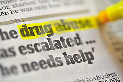Drug abuse drawing