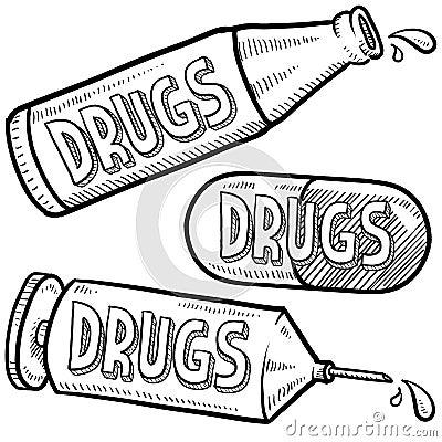 Drug abuse sketch