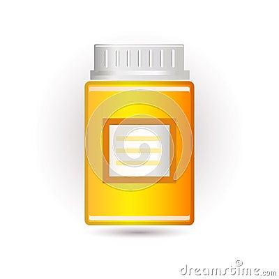 Drug bottle icon