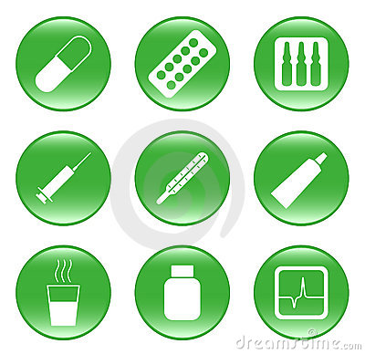 Drug-store - vector web icons (buttons)