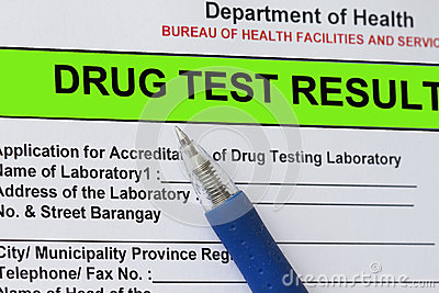 Drug test result