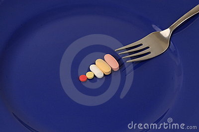Drugs and vitamins by fork