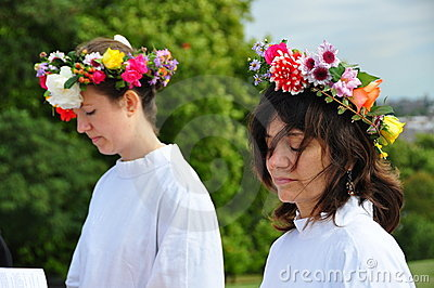 Druids Autumn Equinox 2009 Editorial Stock Image