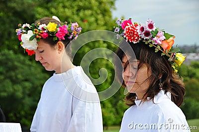 Druids Autumn Equinox 2009 Editorial Stock Image