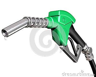 Druipende benzinepomppijp