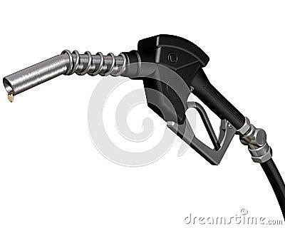 Druipende diesel pomppijp