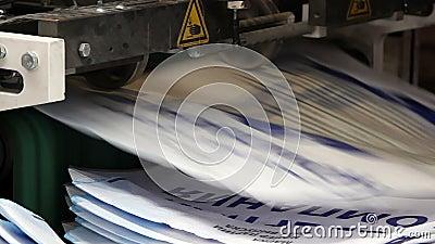 Druk typografii prasowa maszyna w pracie zdjęcie wideo