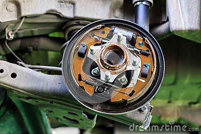 Drum brake of a car